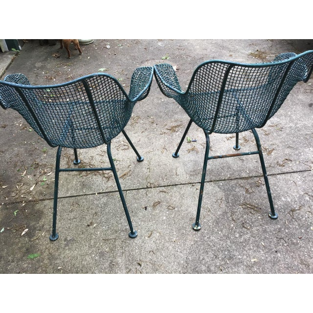 Green Sculptura Chair Table Russell Woodard Patio Set - 3 Pieces Last Call For Sale - Image 8 of 10