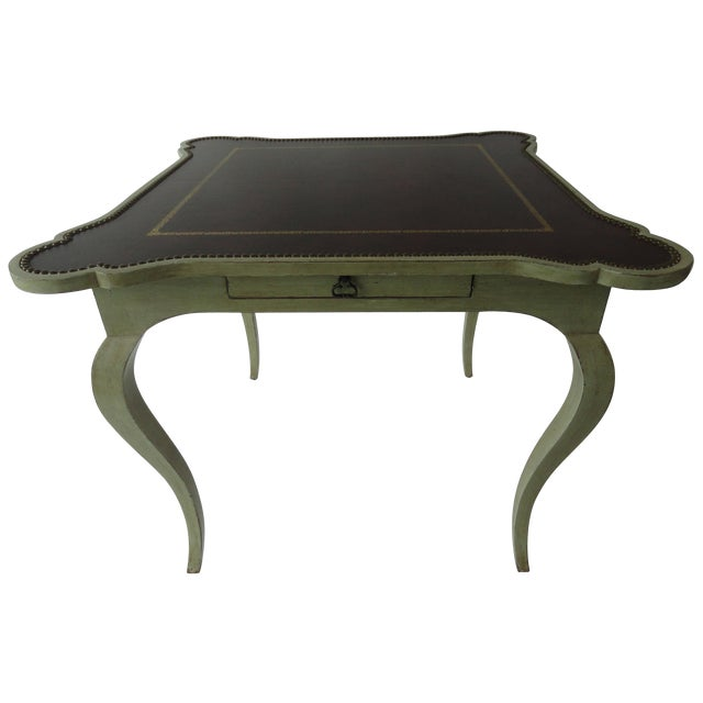 1980s Traditional Minton-Spidell Game Table For Sale