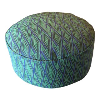 Contemporary Vintage Fabric Ottoman For Sale