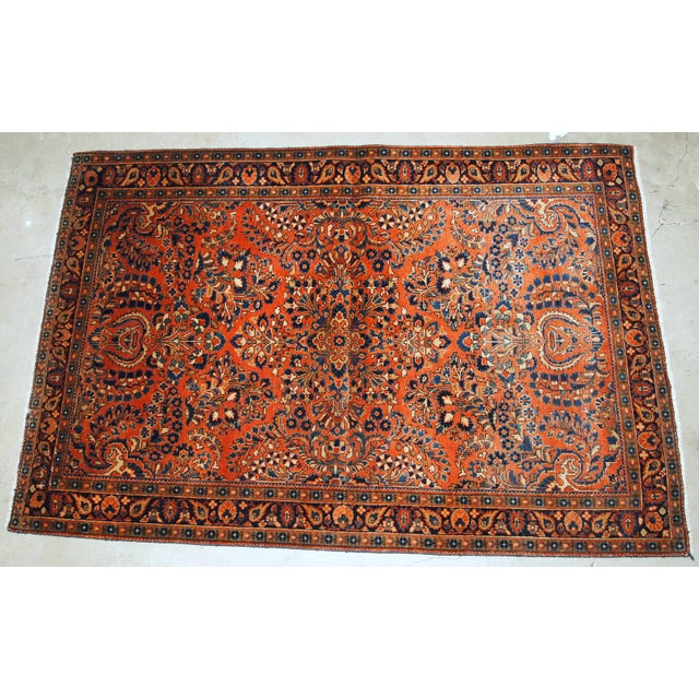 Islamic 1920s, Handmade Antique Persian Sarouk Rug For Sale - Image 3 of 13