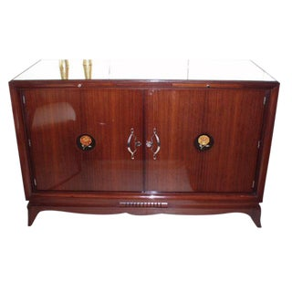 Art Deco Bar Cabinet in Palisander and Mirror, France circa 1928 For Sale