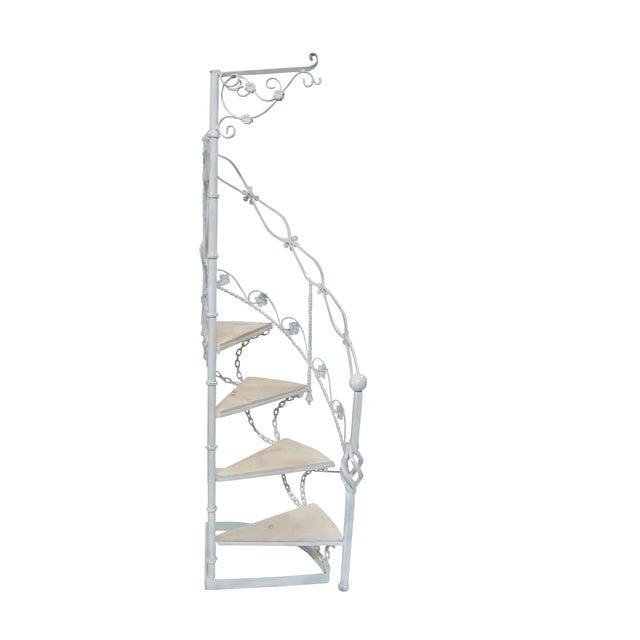Wrought Iron Garden Staircase Planter Display For Sale