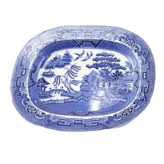 Blue Willow English Staffordshire Transferware Serving Platter