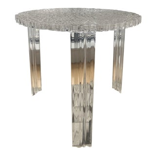 Kartell Transparent Crystal Genuine T-Table For Sale