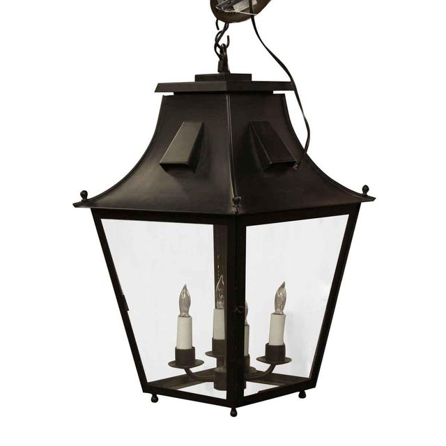 Exterior Colonial Style Hanging Lantern For Sale - Image 4 of 8