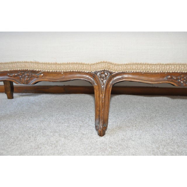 19th C. French Walnut Footstool - Image 5 of 6
