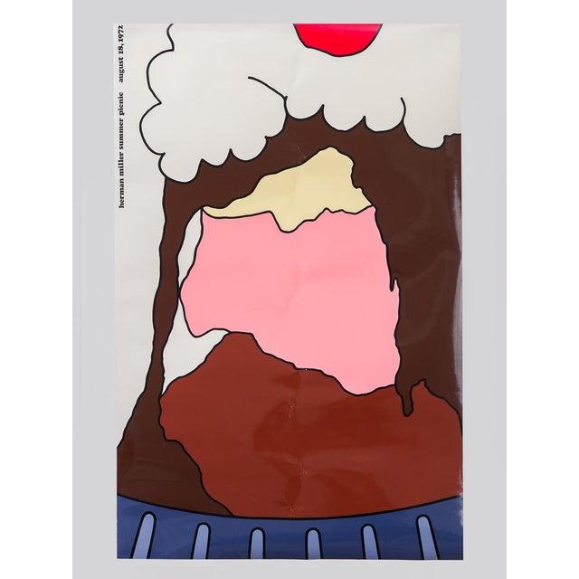 """Paper """"Herman Miller Summer Picnic"""" Ice Cream Sundae Poster For Sale - Image 7 of 7"""