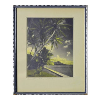 Vintage Sunset on Diamond Head Photograph For Sale