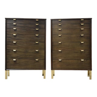 Edward Wormley Ebonized Tall Dresser -Each Item For Sale