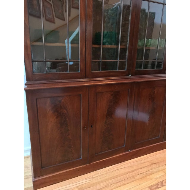 George III Style Mahogany Bookcase Cabinet For Sale - Image 9 of 13