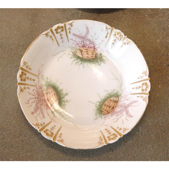 French Shell Decorated Dishes - Set of 6 For Sale - Image 3 of 9