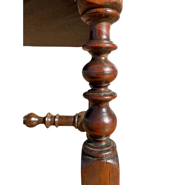 Early 18th Century Flemish Baroque Walnut Benches - a Pair For Sale - Image 5 of 8