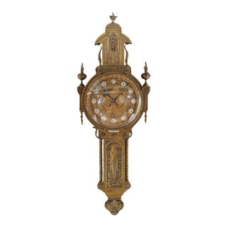 19th Century French Creusy Paris Bronze Clock For Sale