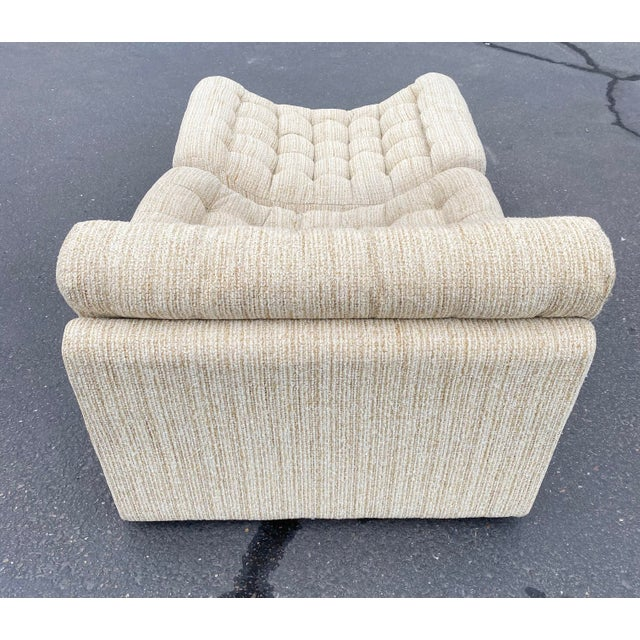 Vintage Deep Biscuit Tommy Tufted Lounge Chair and Ottoman For Sale In Phoenix - Image 6 of 13