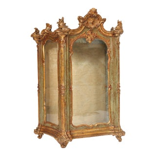 Antique Continental Louis XV Style Table Top Vitrine For Sale