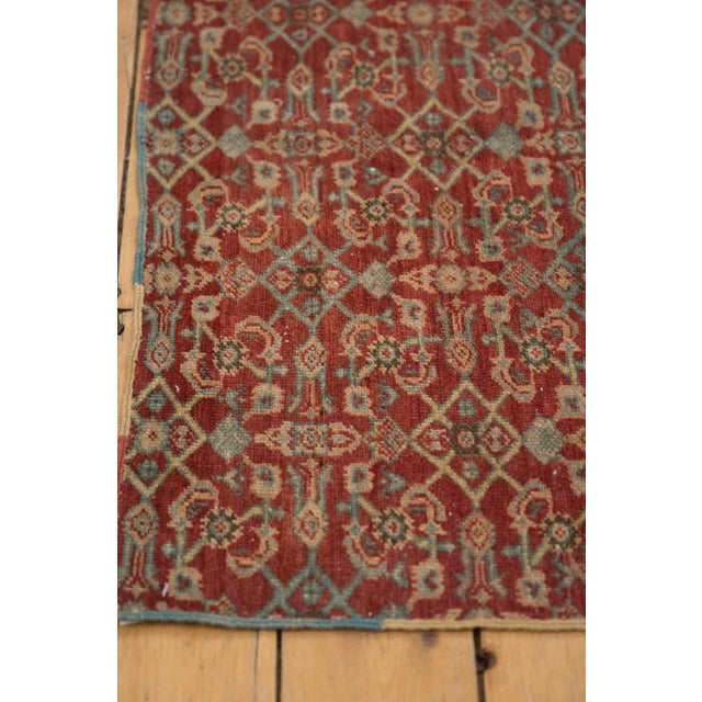"""White Vintage Fragment Mahal Square Rug - 2'7"""" X 3'2"""" For Sale - Image 8 of 9"""