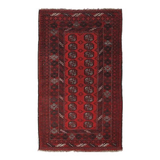 "Hand-Knotted Semi Antique Afghan Bokhora Rug - 3' 6"" X 6' 5"""