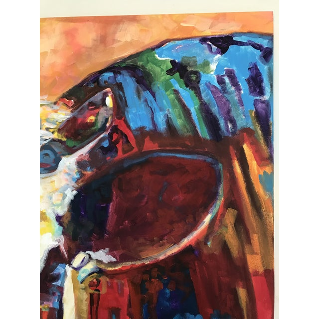 2010s 2010's Contemporary Cow Acrylic Painting by David Warmenhoven For Sale - Image 5 of 9