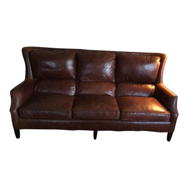 Arhaus Alex Leather Sofa For Sale