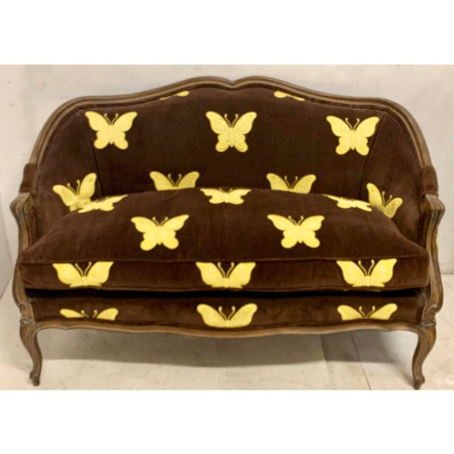Textile Meyer Gunther Martini French Style Settee For Sale - Image 7 of 8