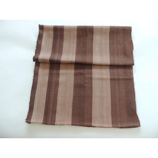 Vintage Brown and Camel Woven Textile For Sale In Miami - Image 6 of 6