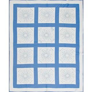 Cotton Floral Voile Quilt For Sale