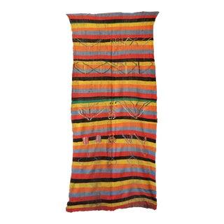 1970s Tribal Kilim Moroccan Rug For Sale