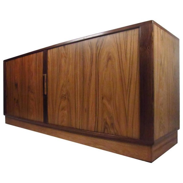 H.P. Hansen Danish Rosewood Tambour Server For Sale - Image 5 of 11