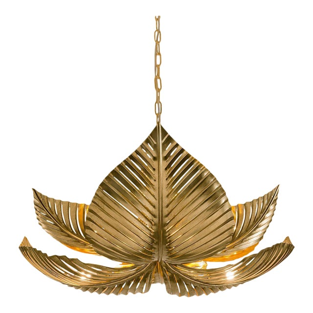 Palm Leaves Pendant Light For Sale