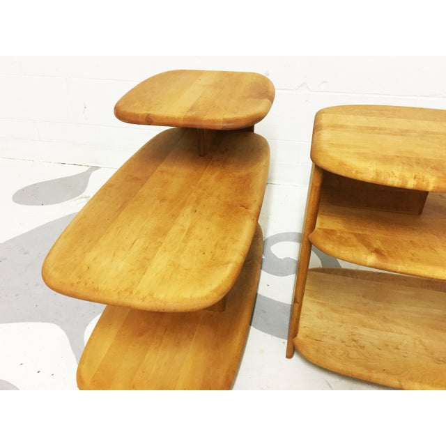 Heywood Wakefield Mid-Century Side Tables - A Pair - Image 6 of 6