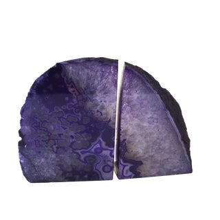 Natural Brazilian Stone Purple Quartz - Set of 2 For Sale