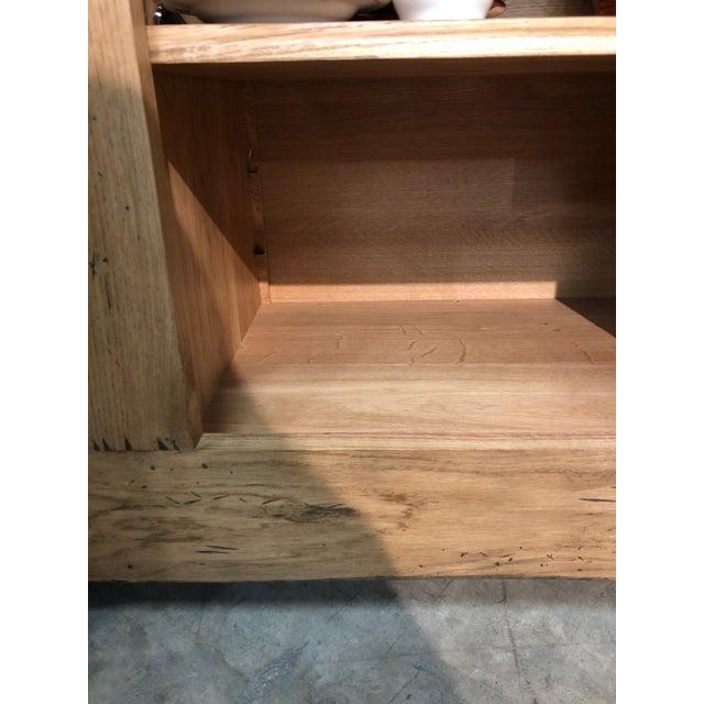 Italian Solid Oak Buffet For Sale - Image 10 of 13
