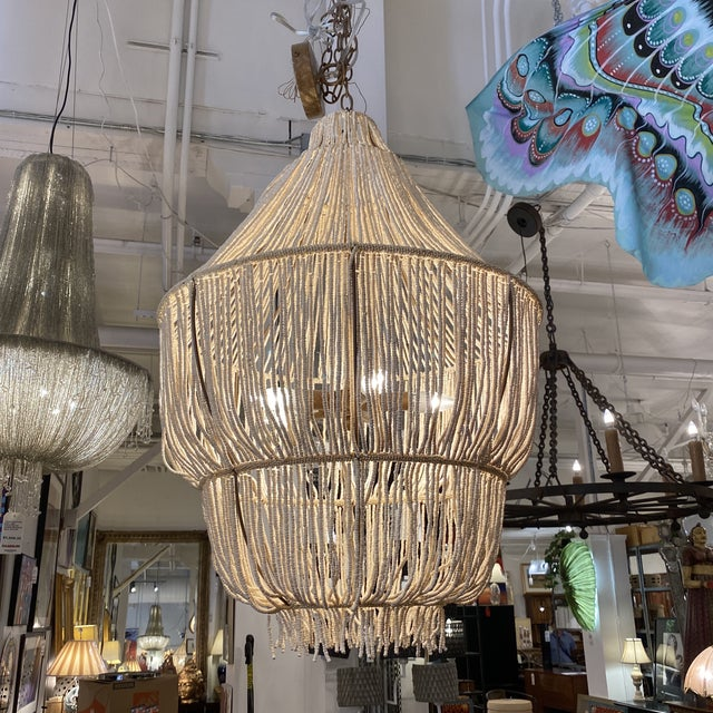 Contemporary Made Goods CoCo Bead Aida Chandelier For Sale - Image 3 of 10