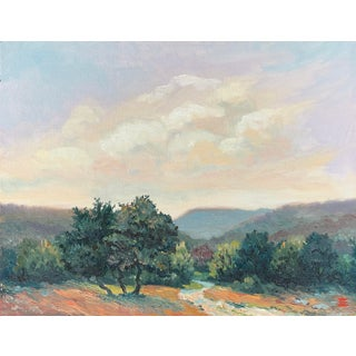 """""""Bellaterra Road"""" 2009 Oil Landscape Painting For Sale"""