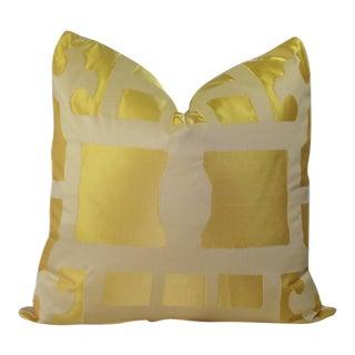 "22"" Marrakesh Besopke Custom Silk Pillow - One of a Kind"