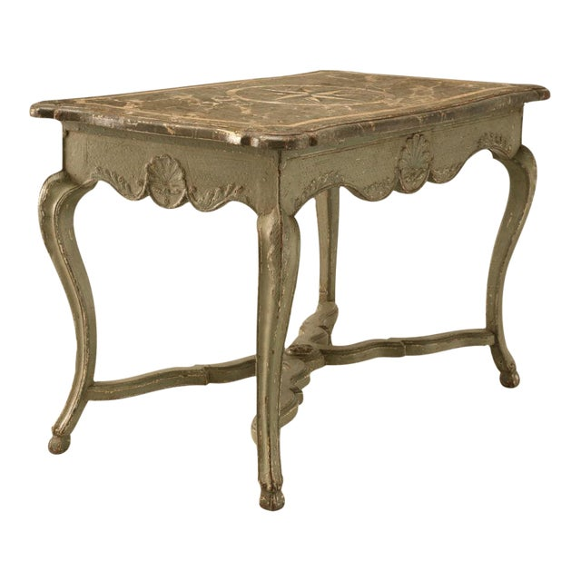 Antique Italian Restored Painted Table For Sale