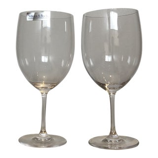 Villeroy & Boch Allegorie Bordeaux Goblet Wine Glasses - Set of 2 For Sale