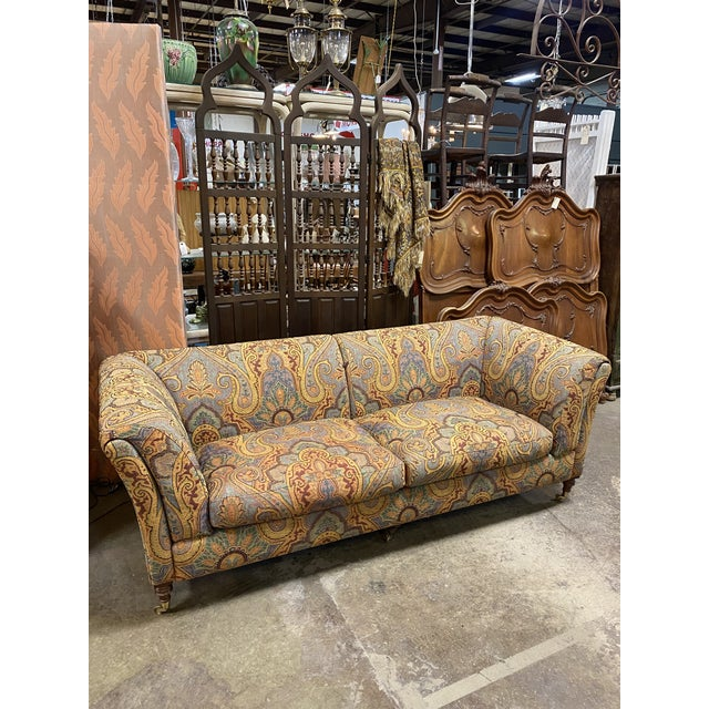 1990s Vintage Italian Etro Paisley Tapestry Fabric Sofa For Sale - Image 12 of 12