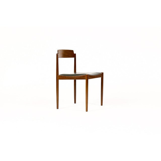 Excellent set of Danish Modern dining chairs. Mahogany frame construction. Designed by IB Kofod Larsen for G-Plan. The...