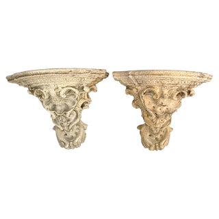 Outdoor Wall Brackets - A Pair For Sale