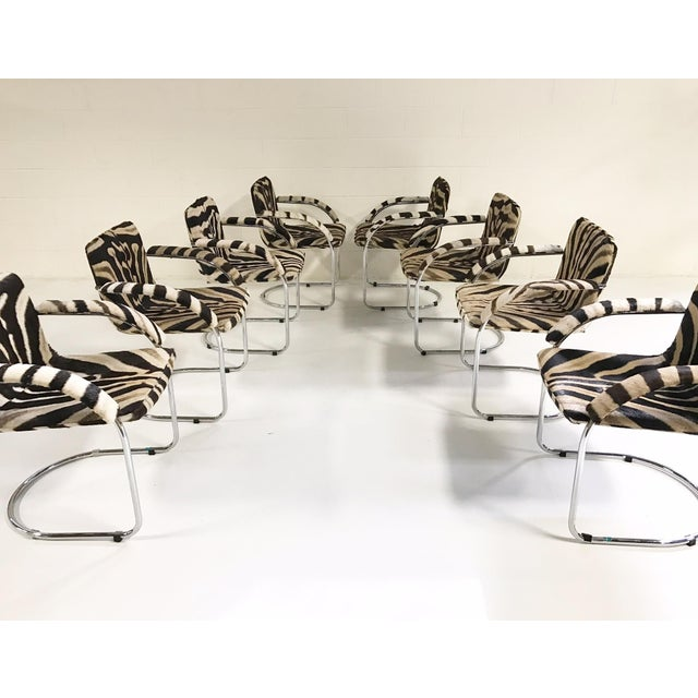 Giovanni Offredi for Saporiti Lens Chairs in Zebra - Set of 8 - Image 11 of 11
