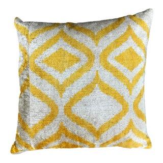 Yellow Ogee Print Pillow