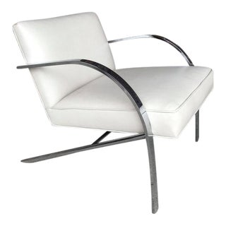 1960s Mid-Century Modern Paul Tuttle Chrome and Leather Chair For Sale