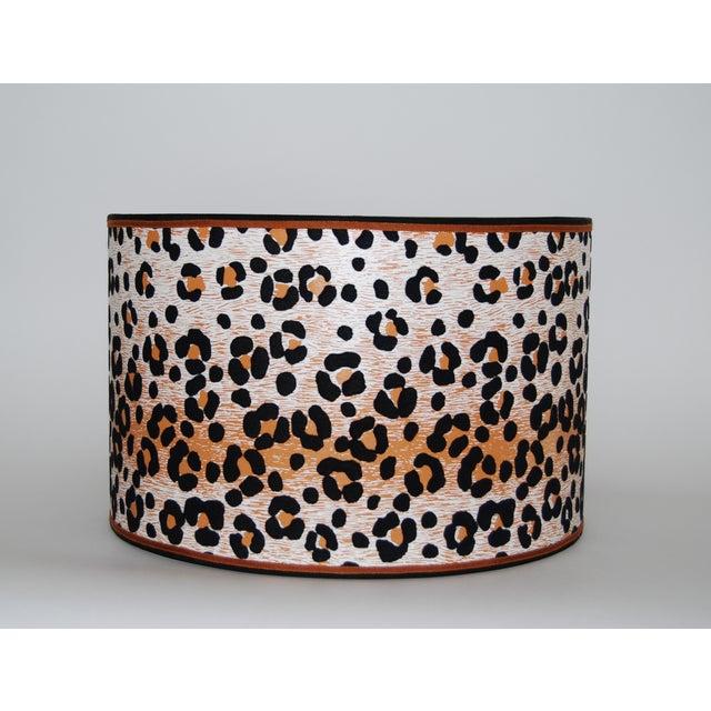 Vintage Cheetah Wallpaper Lampshade - Image 2 of 4