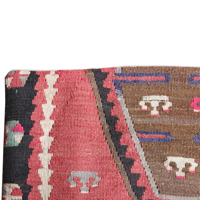 Vintage 1960s Turkish Kilim Pillow Cover - Image 2 of 5