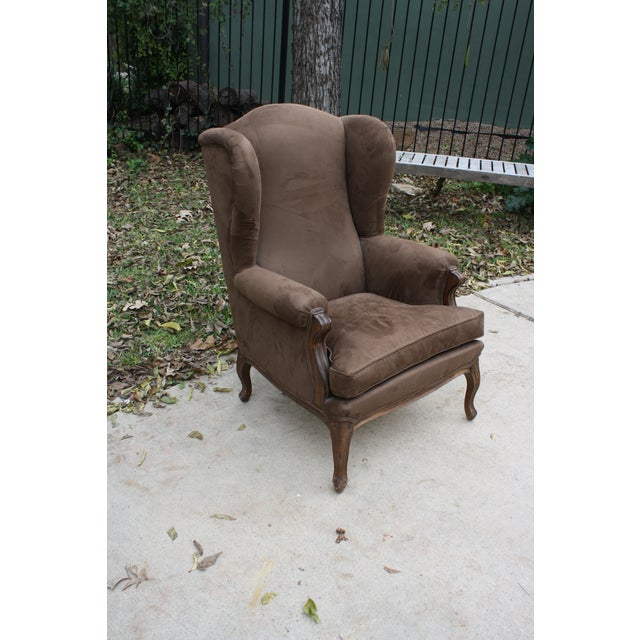 French Style Wingback Chair - Image 3 of 5