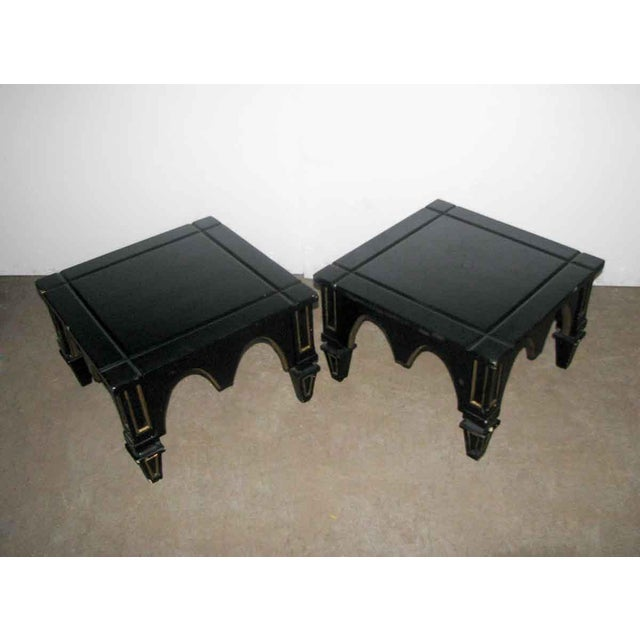 Ebonized Gothic Style End Tables - A Pair For Sale - Image 10 of 10