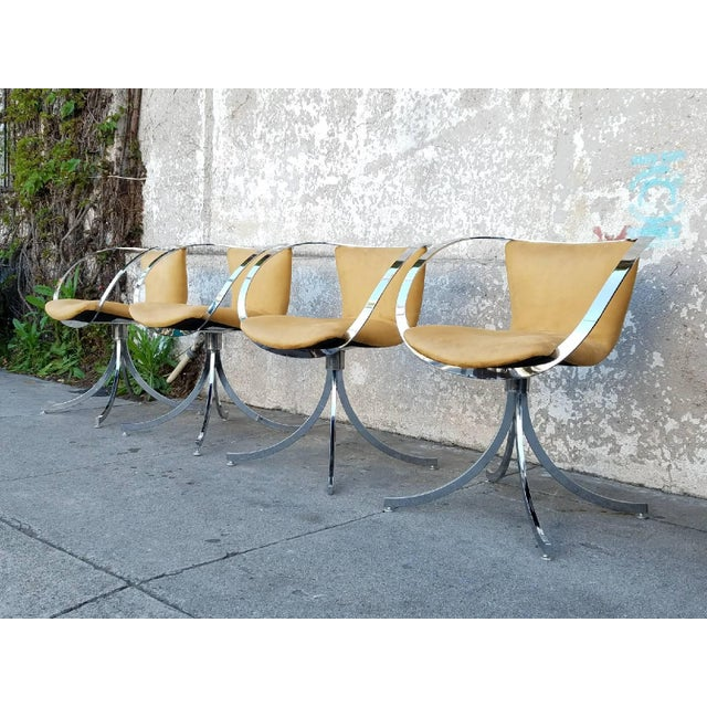 Italian Modern Chairs - Set of 4 - Image 3 of 7