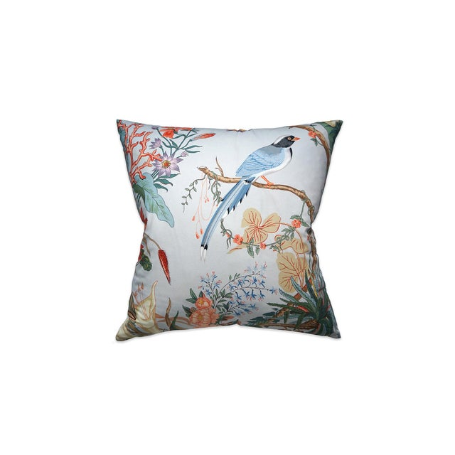Transitional Scalamandre Cinque Terra Pillow, Blue For Sale - Image 3 of 3