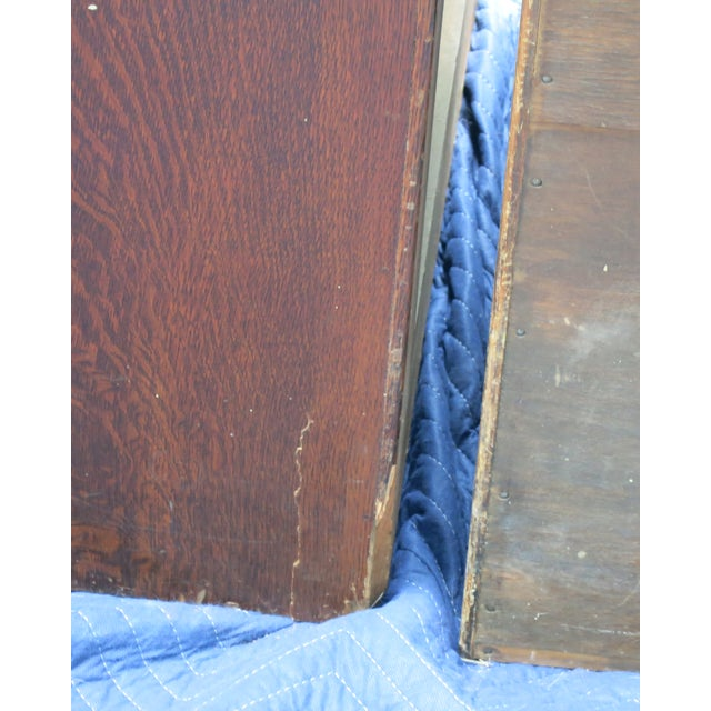 Wood Antique Globe Oak File Cabinets - Set of 3 For Sale - Image 7 of 13